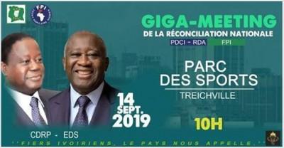Côte d'Ivoire : Le meeting conjoint du PDCI-FPI aura lieu samedi au Parc des Sports de Treichville, selon le ministère des sports