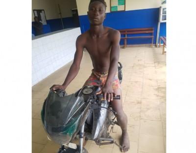 Côte d'Ivoire: A Abobo, un élève interpellé après avoir volé une moto en stationnemen...