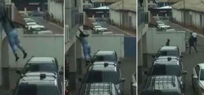 Ghana: Film d'une suspecte voleuse arrêtée dans une agence d'Ecobank à Kumasi