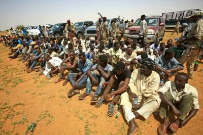 Soudan: 138 africains en route pour la Libye interceptés dans le désert