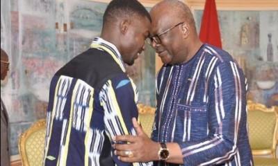 Burkina Faso: Médaillé de bronze au mondial d'athlétisme, Hughes Fabrice Zango  félicité par le président kaboré