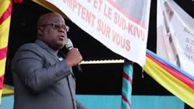 RDC:   A Bukavu,  Felix Tshisekedi se dit prêt à mourir pour la paix dans l'est