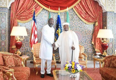 Gabon-Liberia: George Weah à Libreville chez Ali Bongo