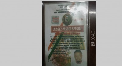 Côte d'Ivoire: La  libération de l'individu pris avec un faux « Laissez-Passer » suscite des interrogations