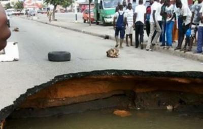 Côte d'ivoire: L'AGEROUTE dément les  dégradations graves de route dues aux pluies di...
