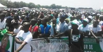 Côte d'Ivoire :  Yamoussoukro, le PDCI réussit le pari de la mobilisation sur la place Jean-Paul II