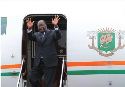 Côte d'Ivoire:  Alassane Ouattara est arrivé à Tokyo pour l'intronisation du nouvel E...