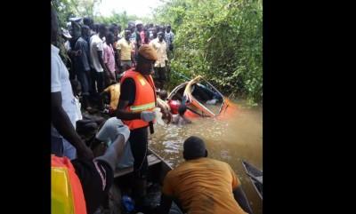 Côte d'Ivoire: Drame du taxi renversé dans un fleuve à Guiglo, des corps repêchés dans le N'zo