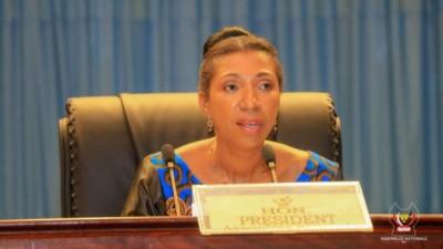 RDC:  La Présidente de l'assemblée nationale  Jeanine Mabunda visée par une motion de destitution