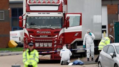 Soudan: 12 migrants  découverts  dans  un camion frigorifique  en Belgique