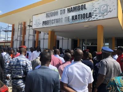 Côte d'Ivoire :  Hambol, à quelques jours de la visite d'Etat de Ouattara, le ministre Sidiki Diakité note à Katiola, un avancement des travaux d'infrastructures