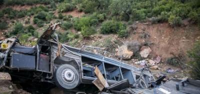 Tunisie: Un bus de touristes tombe dans un ravin, 26 morts et 17 blessés