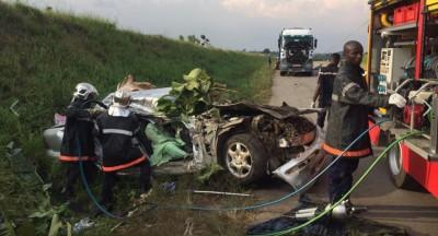 Côte d'Ivoire: Drame, 6 victimes dont 3 morts dans un grave accident à N'zianouan entre une voiture personnelle et un gros camion