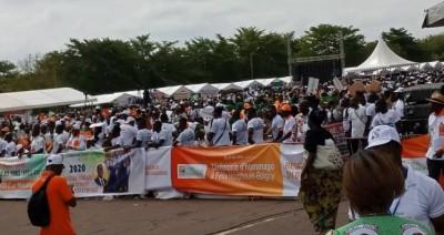 Côte d'Ivoire: Yamoussoukro, le RHDP réussit le pari de la mobilisation à la place Je...