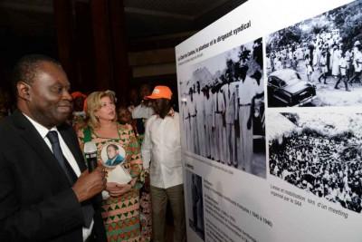 Côte d'Ivoire: Hommage au Président Félix Houphouët-Boigny, la Première Dame a présidé la cérémonie de vernissage de l'exposition photos