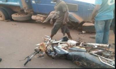 Côte d'Ivoire: Une collision  entre un véhicule et une moto fait quatre morts à l'oue...