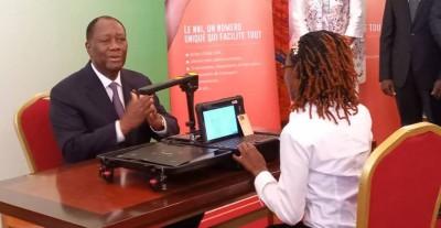 Côte d'Ivoire :  Carte nationale d'identité, Alassane Ouattara donne le top départ de l'enrôlement des informations biométriques