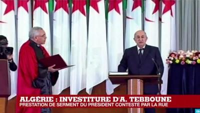 Algérie: Rejeté par le Hirak, le  nouveau président Abdelmadjid Tebboune prête serment et prend fonction