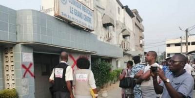 Côte d'Ivoire : Yopougon, accusée d'avoir contribué au décès d'un bébé de 11 mois, la Clinique médicale le Grand centre, fermée temporairement pour une période de 30 jours