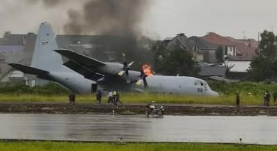 RDC: Un avion sud-africain prend feu après avoir raté son atterrissage sans faire de...