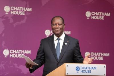 Côte d'Ivoire-UK: Conférence au Chatam House, thème: «Elections en 2020: Assurer la stabilité et l'inclusion», allocution d'Alassane Ouattara
