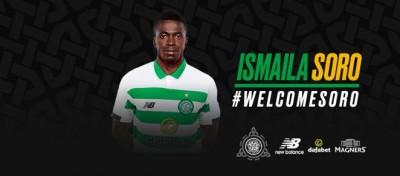 Côte d'Ivoire : Le Celtic de Glasgow annonce avoir conclu un contrat avec l'ivoirien Ismaïla Soro sous réserve d'un permis de travail