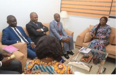 Côte d'Ivoire : Le parti de Mel Theodore réitère sa volonté d'adhérer au RHDP auprès de  Kandia Camara