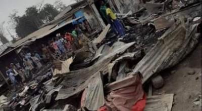 Côte d'Ivoire : Agboville, une partie du marché part en fumée moins de deux ans après un incendie similaire