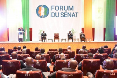 Côte d'Ivoire :  Yamoussoukro, premier Forum du Sénat, les collectivités territoriales relèvent de nombreuses insuffisances dans la mise en œuvre effective du transfert des compétences de l'Etat