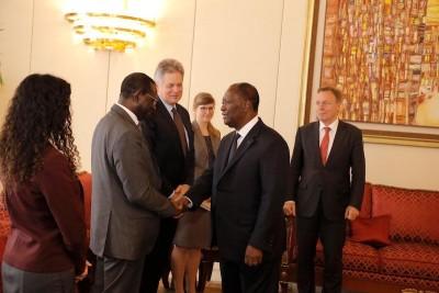 Côte d'Ivoire : Le Vice-Président de l'Assemblée Parlementaire d'Allemagne et le Secrétaire Général de l'OMT reçus au palais présidentiel