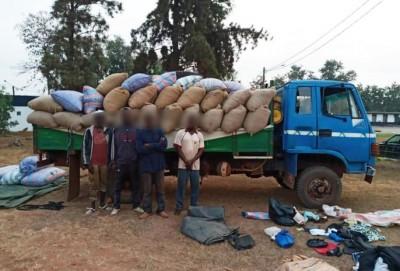 Côte d'Ivoire : Des individus suspectés du détournement  d'un véhicule  transportant des produits d'agricoles mis aux arrêts  par la Gendarmerie