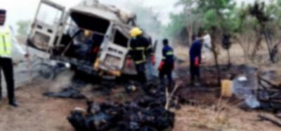 Ghana :  Accident à Kawampe, 27 passagers brûlés