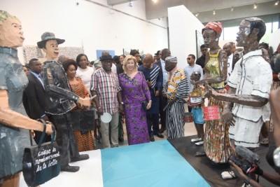 Côte d'Ivoire :  Culture contemporaine, la Première Dame procède à l'inauguration du Musée des cultures contemporaines Adama Toungara