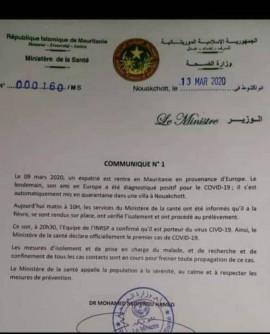 Mauritanie : Un premier cas «importé »de coronavirus signalé, le pays réduit  ses vols vers la France