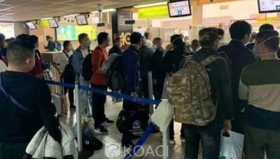 Côte d'Ivoire : Un avion avec des ressortissants chinois  débarque à Abidjan, les passagers mis en quarantaine