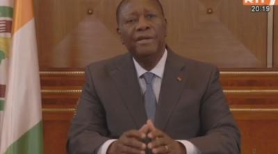 Côte d'Ivoire : Prévention du Coronavirus, Alassane Ouattara décrète l'Etat d'urgence sur toute l'étendue du territoire, couvre-feu de 21h à 5h à compter de mardi