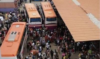 Côte d'Ivoire : Coronavirus, ils fuient Abidjan, risque de contamination de l'intérie...