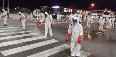 Côte d'Ivoire : Coronavirus, top départ de la désinfection d'Abidjan, les soldats de l'ordre sanitaire en action