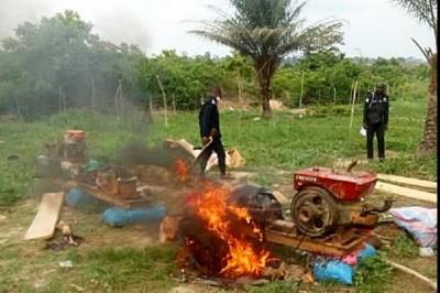 Côte d'Ivoire : Un site d'orpaillage  clandestin détruit, deux individus  interpellés