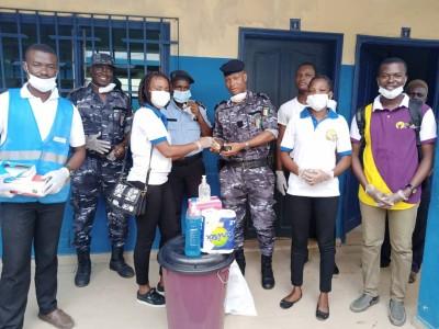 Côte d'Ivoire : Le commissariat du 26ème arrondissement sensibilisé sur  la lutte contre le Covid-19