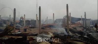Côte d'Ivoire : À Lakota, le grand marché part en fumée, tension entre forces de l'ordre et populations