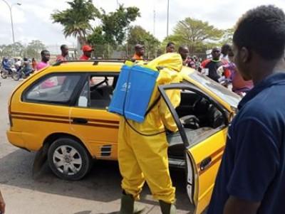 Côte d'Ivoire : Lutte contre la propagation du Covid-19, Abobo, les véhicules de transport commun désinfectés