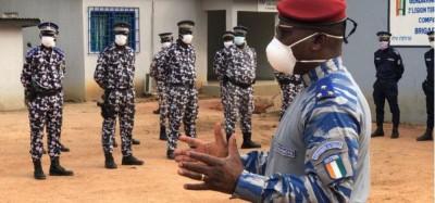 Côte d'Ivoire : Depuis l'ouest, le « boss » de la Gendarmerie exhorte ses éléments à rester sourds face aux fausses rumeurs