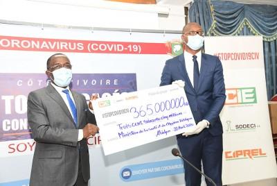 Côte d'Ivoire : Coronavirus, Eranove apporte un soutien de 365 millions de FCFA au Ministère de la Santé