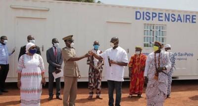 Côte d'Ivoire : Plan de riposte du Coronavirus, aux côtés du Gouvernement, Bolloré Transport & Logistics offre un dispensaire à San Pedro