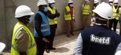 Côte d'Ivoire : Visitant les chantiers de la CAN 2023 à Bouaké, Danho Paulain : « Très bientôt, nous retrouverons nos stades »