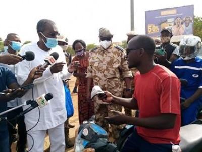 Burkina Faso : Début de contrôle du port obligatoire du masque contre le Covid-19