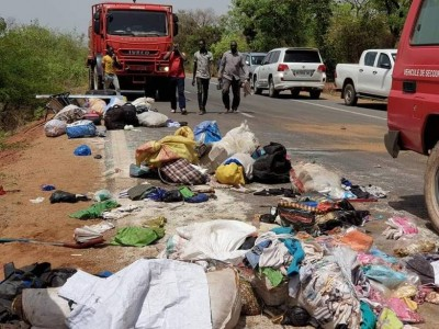Mali : Une collision entre un minibus et un poids lourd fait 20 morts