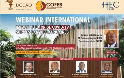 UMOA : Impacts du coronavirus sur les banques africaines, séminaire en ligne de la BCEAO organisé avec le COFEB et HEC