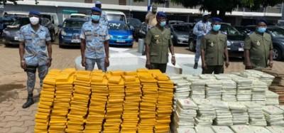 Togo :  Saisie de 1,5 tonnes du cannabis à Hihéatro sous une fausse déguisée